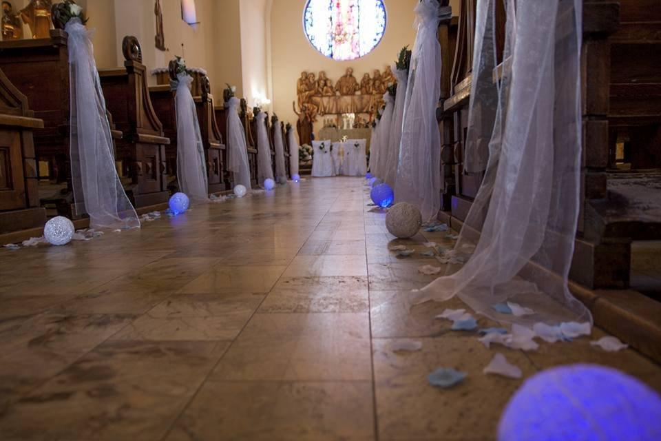 Ślub dekoracja Kościół Bielsko-Biała Wapienica
